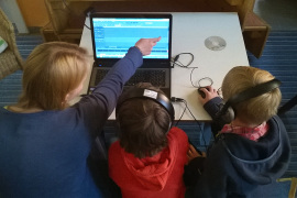 Audioschnittplatz, mobil, Arbeit mit Kindern