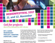 Call for Projects Medienfestival 2017