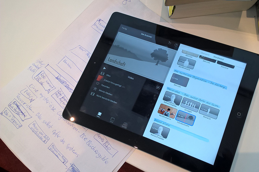 Crossmediatour iPad mit iMovie