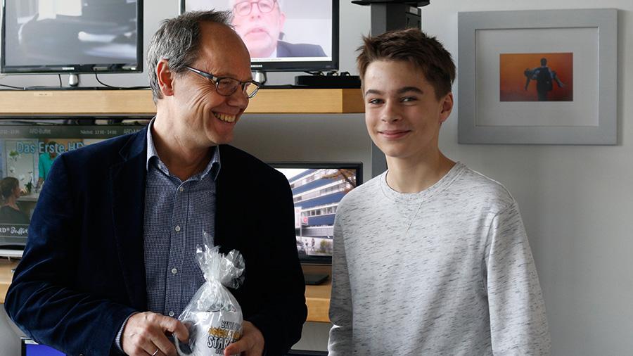 Benedict Bartsch zu Besuch bei der Tagesschau mit Kai Gniffke