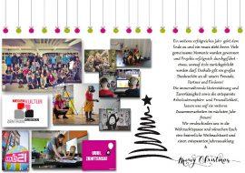 Weihnachtskarteaushang